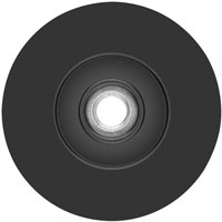 Quick lock fiber disc backing pads