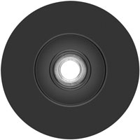 Quick lock fiber disc backing pads