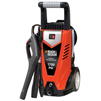 BLACK & DECKER Pressure Washer 1700 PSI @ 1.4 GPM, Electric