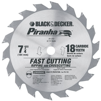 7-1/4 Piranha Carbide 18T Blade