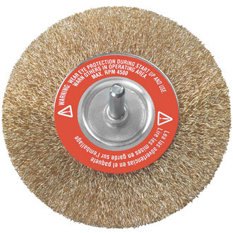 Paint/rust remover wheel wire