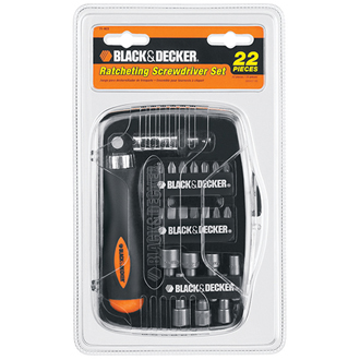 22-Piece Ratching Screwdriving Set
