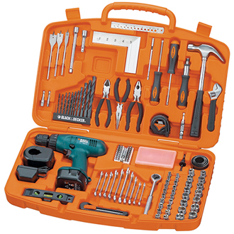 124-Pc. Set with 12V Drill