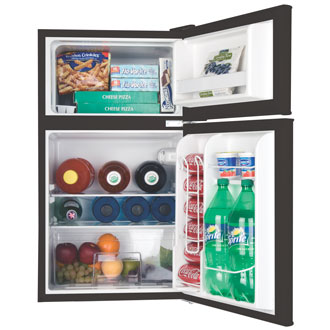 3.3 Cu. Ft. 2-door Refrigerator (Black)
