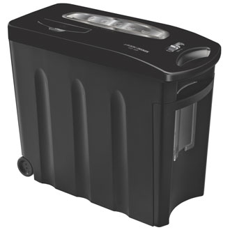 10 Sheet Crosscut Shredder (Black w/Chrome Accents)