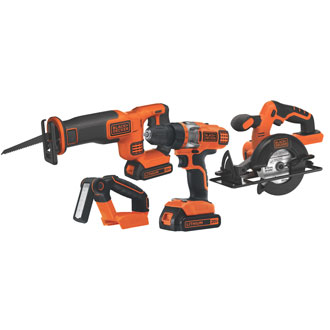 Black & Decker 20V MAX* 4-Tool Combo Kit
