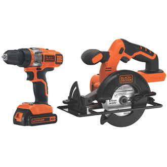 Black & Decker 20V MAX* Drill/Driver & Circular Saw