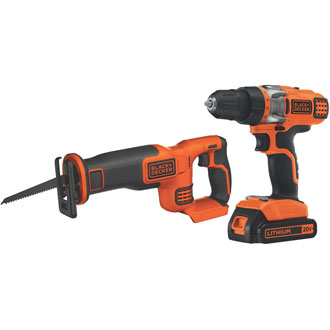 Black & Decker 20v Max Drill/Driver & Recip Saw