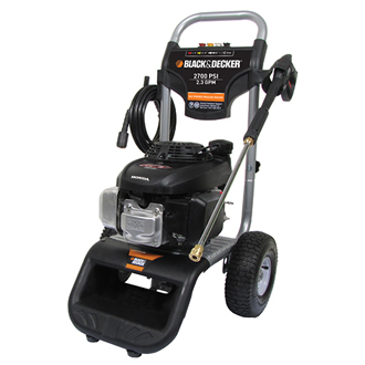 BLACK & DECKER Pressure Washer 2700 PSI @ 2.3 GPM, Direct Drive Gas