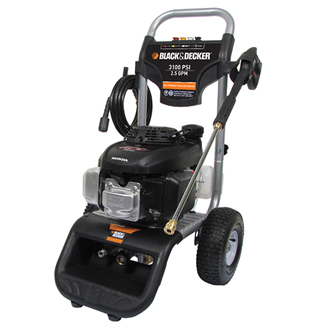 BLACK & DECKER Pressure Washer 3100 PSI @ 2.5 GPM,  Direct Drive Gas