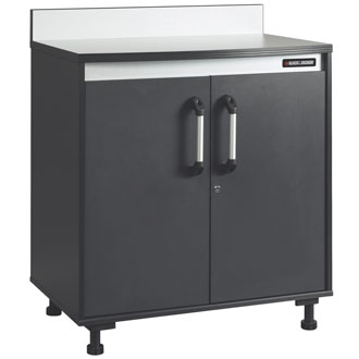 Base Cabinet with Work Surface, Charcoal Stipple