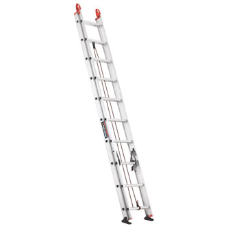 20' Aluminum Extension Ladder 225 lbs.