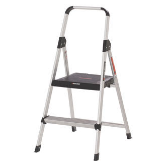 2 Step Aluminum Step Stool - 225 lbs