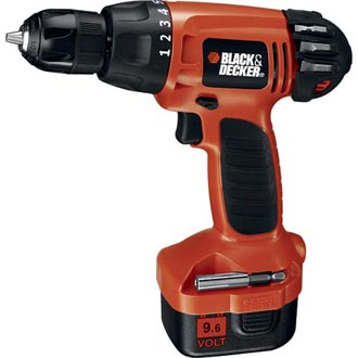 9.6V Cordless Drill/Driver with Keyless Chuck