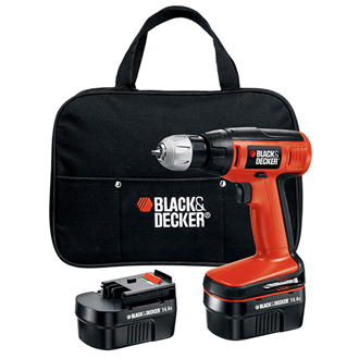 14.4V Compact Cordless Drill with 2 Batteries and Storage Bag