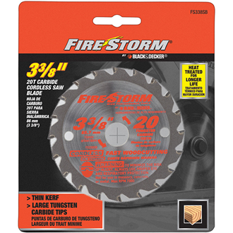 3-3/8 20 Tooth Saw Blade