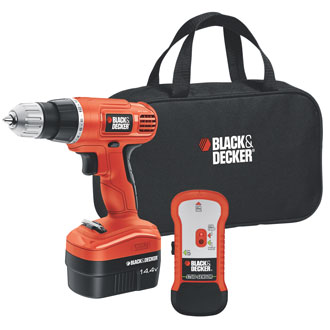 14.4V Cordless Drill with Stud Sensor and Storage Bag