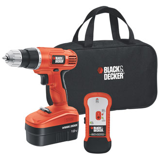 18V Cordless Drill with Stud Sensor and Storage Bag