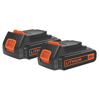 20V Max Lithium Ion Battery 2-Pack