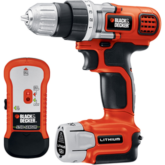 12V Lithium Drill with Stud Finder and Storage