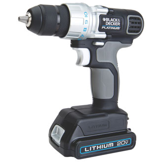 Black & Decker 20v Max Lithium Platinum Drill/Driver