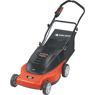 19 Electric LAWNHOG™ Mulching Mower with Rear-Bag