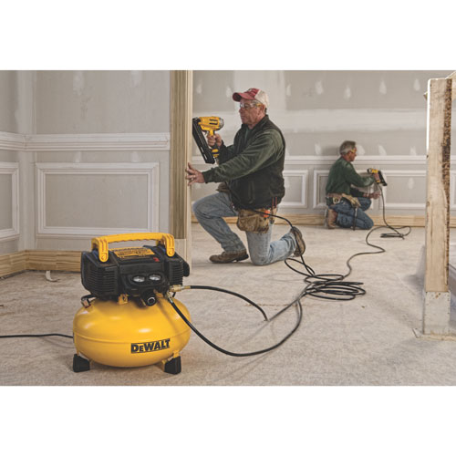 Dewalt DWFP55126 can use airbrushes, nailers or even impact wrenches
