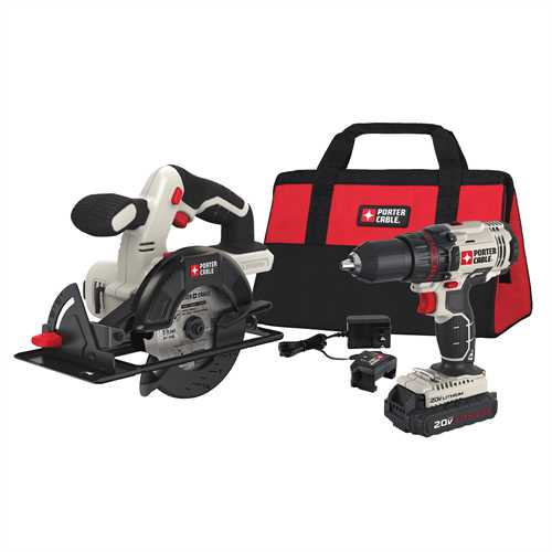 Porter cable product details for 20v max cordless in drill porter cable product details for 20v max cordless in drilldriver and 5 12 in circular saw combo kit model pcck612l2 greentooth Choice Image