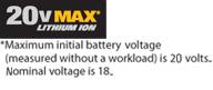 20V Max with Disclaimer