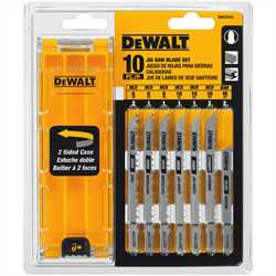DEWALT DW3741C 10PC JIG SAW BLADE SET
